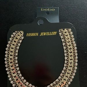 Bebe Chain & ribbon necklace